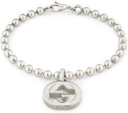 GUCCI JEWELS Mod. INTERLOCKED G Bracelet GUCCI JEWELS Silver Lady