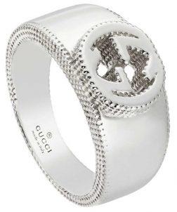 GUCCI JEWELS Mod. INTERLOCKED G Ring GUCCI JEWELS Silver Lady