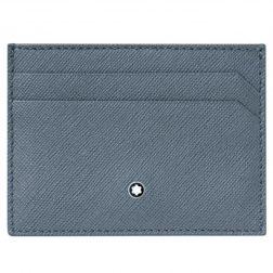 MONTBLANC Mod. SARTORIAL Wallet 12cc Zip Ar DenimBlu Credit Card Holder MONTBLANC