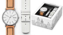SKAGEN DENMARK Mod. SIGNATURE Special Pack + Pen + Extra Strap Wristwatch SKAGEN DENMARK Gent